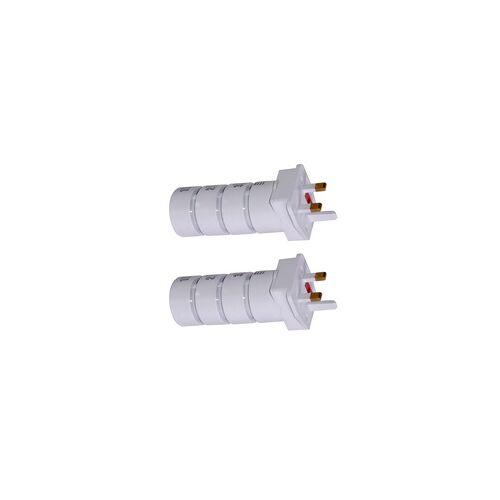 ETC Shop 2er Set Steckdosen Adapter Reise Stecker 4 teilig universal weltweit weiß