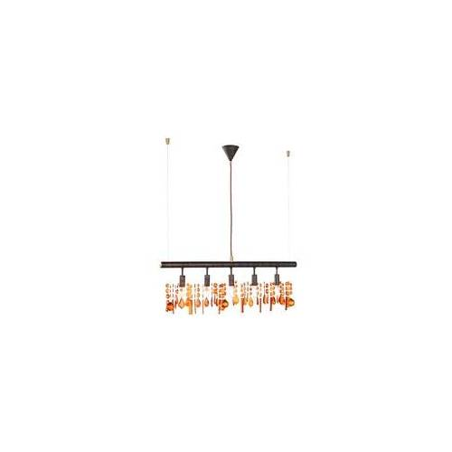 ETC Shop Hänge Lampe dimmbar Kristalle Pendel Leuchte Fernbedienung im Set inklusive RGB LED Leuchtmittel