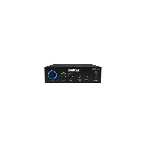 Hollywood 100 Watt DJ PA Kompakt Verstärker Party Musik-Equipment Endstufe AUX Anlage Hollywood Mini 100