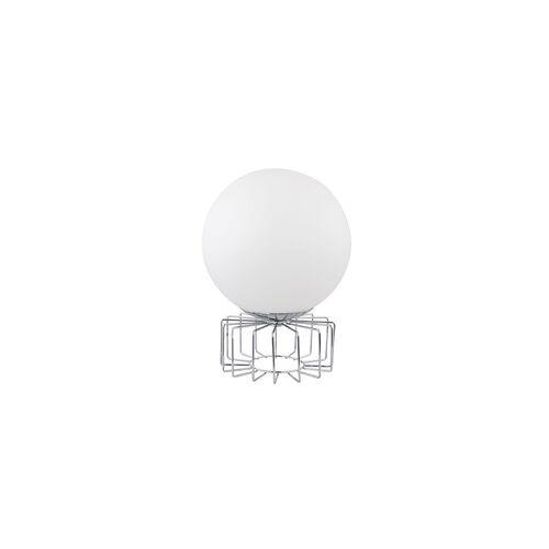 Globo Tischleuchte Tischlampe Glas Chrom Opal D 15 cm Wohnzimmer Schlafzimmer Esszimmer