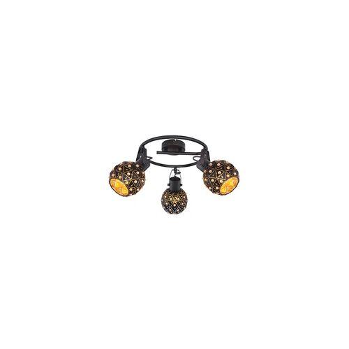 Globo Strahler Schirme innen gold schwarz matt e-Shape klar K9 Kristalle