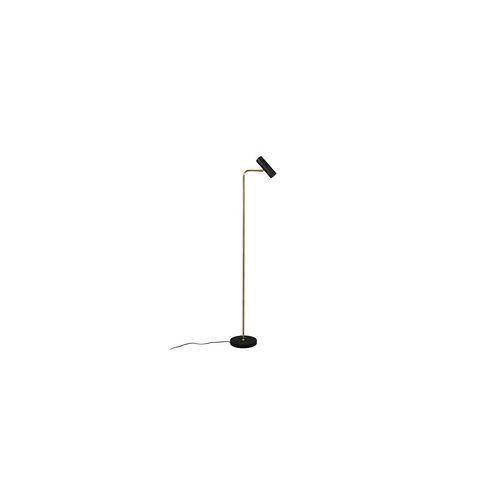 ETC Shop Steh Lampen Leuchten Wohnzimmer Leselampe Stehlampe, Spot beweglich, schwarz messing, 1x GU10, H 151 cm