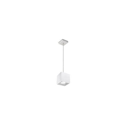 ETC Shop Pendelleuchte Zylinder Decken Pendelleuchte Esszimmer Lampen modern, Aluminium weiß, 1x GU10, LxH 10x80 cm, Wohnzimmer