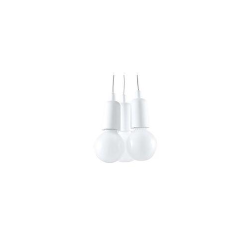 ETC Shop Pendelleuchte Deckenleuchte PVC  Weiß H 90 cm Küche Esszimmer Schlafzimmer