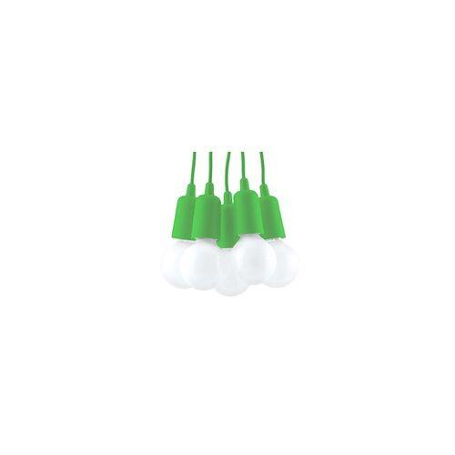 ETC Shop Pendelleuchte Deckenleuchte PVC H 90 cm Grün 5-flammig Esszimmer Wohnzimmer