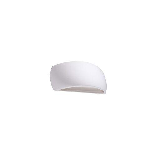ETC Shop Wandleuchte Wandlampe Weiß UP & DOWN Keramik Glas Wohnzimmer Schlafzimmer