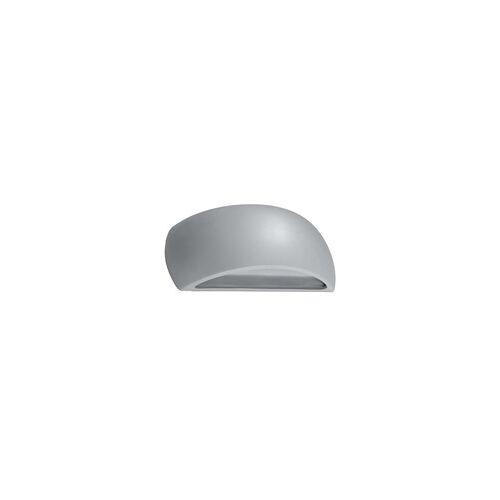ETC Shop Wandleuchte Wandlampe UP & DOWN Grau Keramik Glas Wohnzimmer Schlafzimmer
