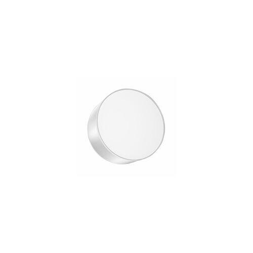 ETC Shop Wandleuchte Wandlampe Grau Modern Rund PVC Schlafzimmer Wohnzimmer Esszimmer