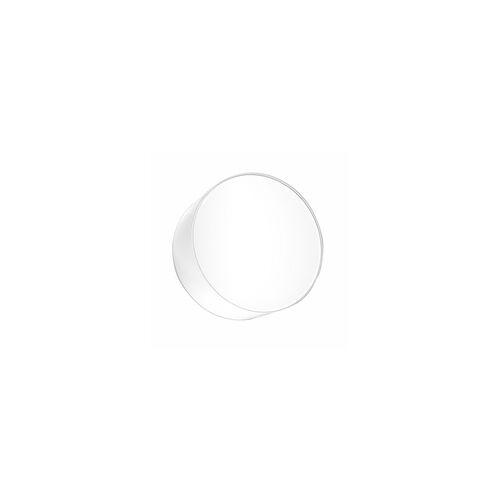 ETC Shop Wandleuchte Wandlampe PVC Stahl Weiß Modern Rund Wohnzimmer Esszimmer Küche