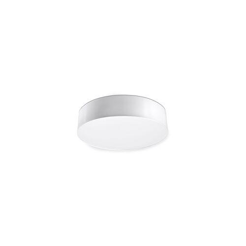 ETC Shop Deckenleuchte Deckenlampe Modern Weiß Rund PVC Esszimmer Schlafzimmer Küche