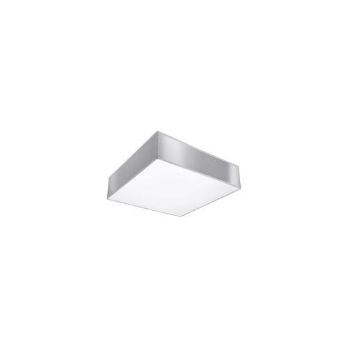 ETC Shop Deckenleuchte Deckenlampe Grau Stahl PVC Modern Esszimmer Wohnzimmer Küche