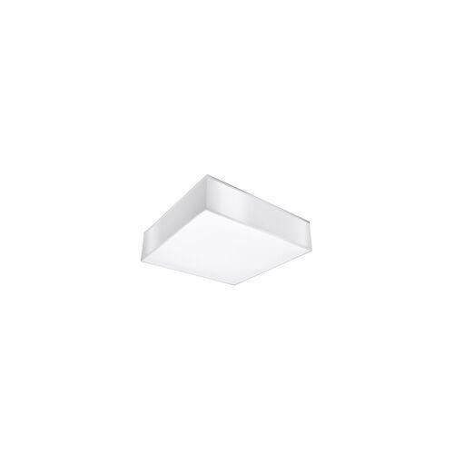 ETC Shop Deckenleuchte Deckenlampe Weiß Modern Stahl PVC