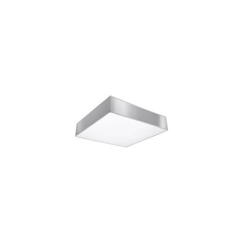 ETC Shop Deckenleuchte Deckenlampe Grau Stahl Modern PVC Esszimmer Küche Wohnzimmer