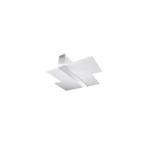 ETC Shop Deckenleuchte Deckenstrahler Weiß, modern, Glas Wohnzimmer Esszimmer Küche