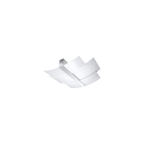 ETC Shop Deckenleuchte Deckenstrahler Weiß Stahl Glas modern Wohnzimmer Esszimmer Küche
