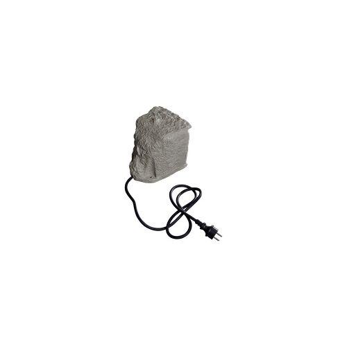 Ett Außensteckdose 2-Fach, Schaltzeituhr, IP44, stein optik, 3680W, 16A