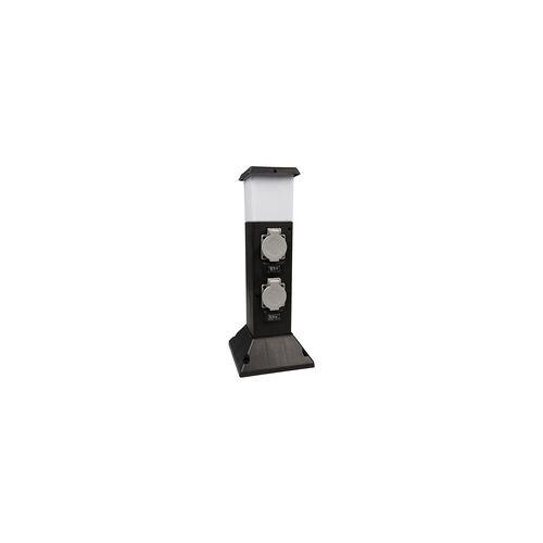 Ett Außensteckdose, 2-fach, Bewegungsmelder,  IP44, LED Beleuchtung
