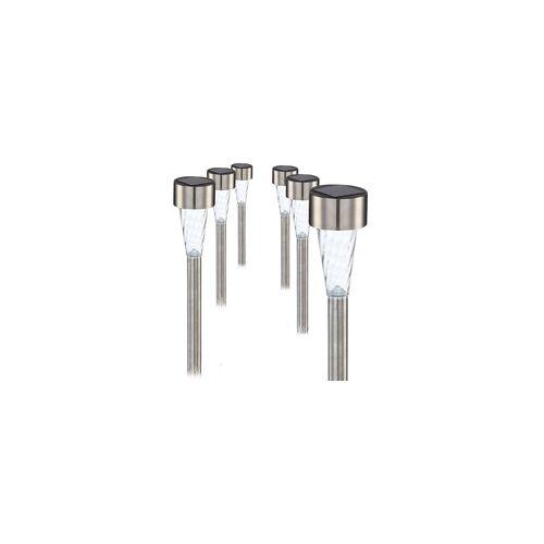 Globo 6er Set LED Solarleuchten Gartenleuchten IP44 Außenleuchten Lampen Leuchten Globo 3386-6