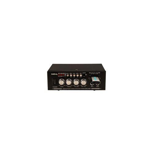 Liston Karaoke Stereo Verstärker MP3 Bluetooth Party Anlage 50 W USB SD Fernbedienung