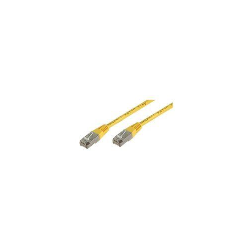 Ett Netzwerk Kabel CAT-5E Patchkabel 10m gelb RJ45 F/UTP LAN