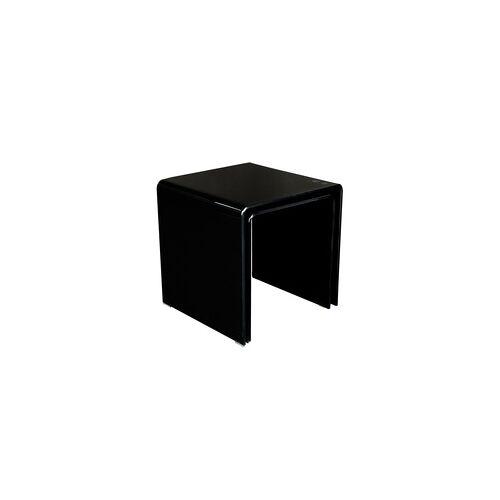 BHP Glastisch 2tlg ausziehbar Wohnzimmer Esszimmer Küche Glas schwarz Tisch Beistelltisch BHP Alana B154076-4
