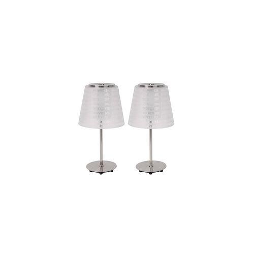 C-illuminazionne 2er Set Tischleuchte Wohnzimmer Esszimmer Flur Flurlampe Leuchtmittel Leuchte 1001-1T_2er