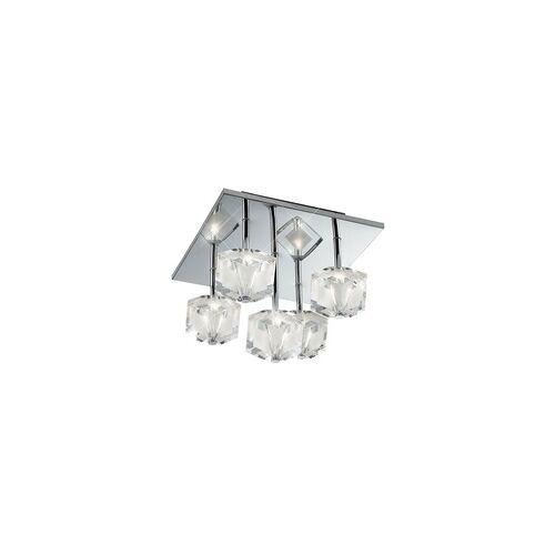 Esto Deckenleuchte Deckenbeleuchtung Lampe Leuchte LED-Farbwechsler Chrom Kristallglas Esto 749030-5