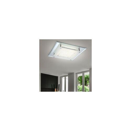 Globo 12 Watt LED Deckenlampe Deckenleuchte Beleuchtung Lampe Chrom Glas Kristalle klar Globo 49300