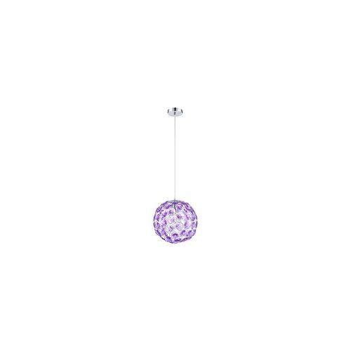 Globo Hängeleuchte Hängelampe Pendelleuchte Beleuchtung Acrylkristalle lila Leuchte Globo 16040