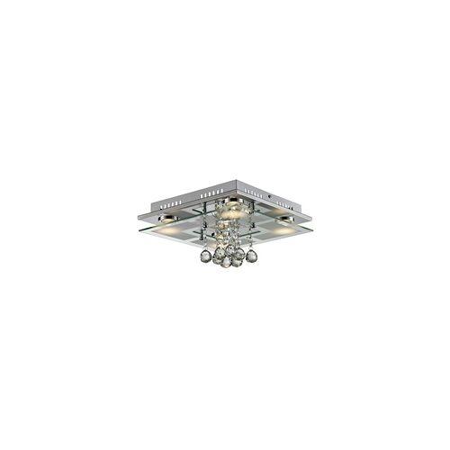Esto 25 Watt Decken Beleuchtung Kristall Glas Esszimmer Chrom 4000 K EEK A+ Esto COLLAR 749090-5