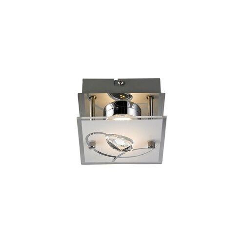 Esto 5 Watt LED Decken- und Wandleuchte Chrom Esszimmer Glas Kristalle Esto 740002-1 ALEXA