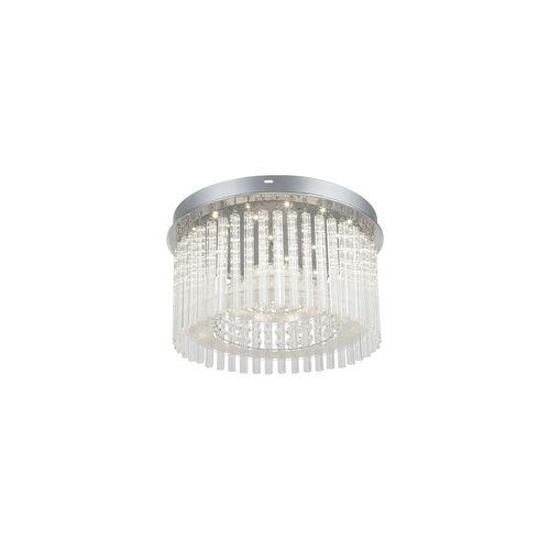 Globo LED 18 Watt Decken Lampe Leuchte Esszimmer Chrom Glasstäbe Kristall Globo 68568-18