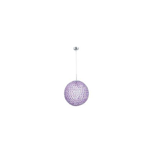 ETC Shop 9,5 Watt LED Hänge Leuchte lila Kugel Beleuchtung Pendel Lampe Kristalle rund