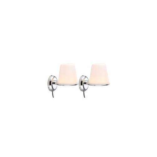 ETC Shop Design 2er Set Chrom Strahler LED Wand Leuchte Badezimmer Spiegel Lampe 1-flg IP44