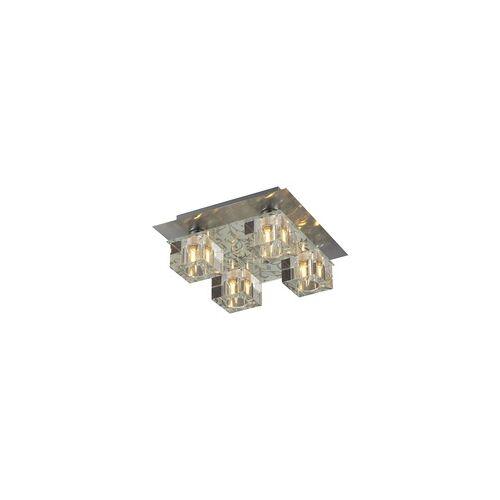 Esto Deckenleuchte Deckenlampe Lampe Leuchte Glas Chrom Wohnraum Schlafzimmer Esto ICE CUBE 40800-4
