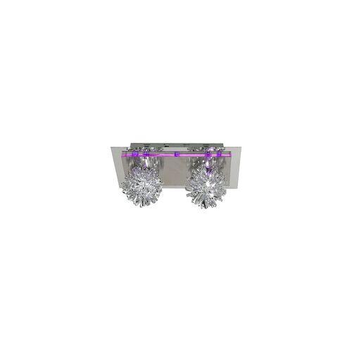 Esto Deckenleuchte Wandlampe Deckenlampe Wandleuchte LED lila Kristallglas SAPHIR 990013-2