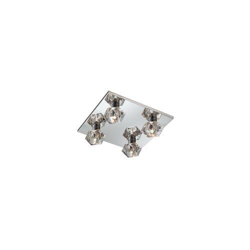Esto Kristallglas Deckenleuchte Wohnzimmerlampe Deckenlampe ICE CUBE Cromo DL 300x300