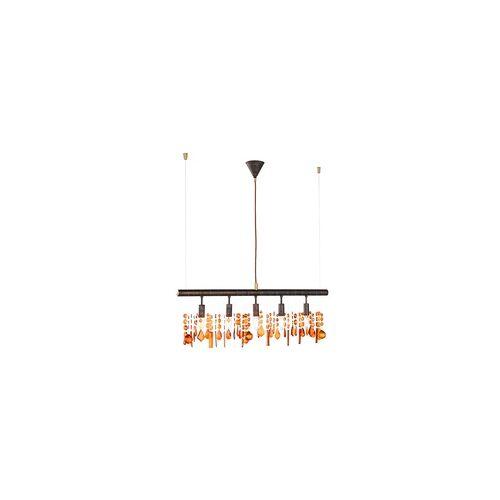 ETC Shop Hänge Lampe Kristall Behang Decken Leuchte Pendel Luster im Set inklusive LED Leuchtmittel