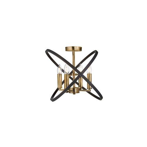 Searchlight Design Kronleuchter Decken Lampe bronze braun Wohn Zimmer  Ring Leuchte verstellbar Searchlight 8244-4BZ