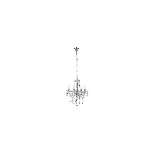 Globo Design Kronleuchter Lüster Deckenlampe Deckenleuchte Chrom Globo Cumbra 63117-4