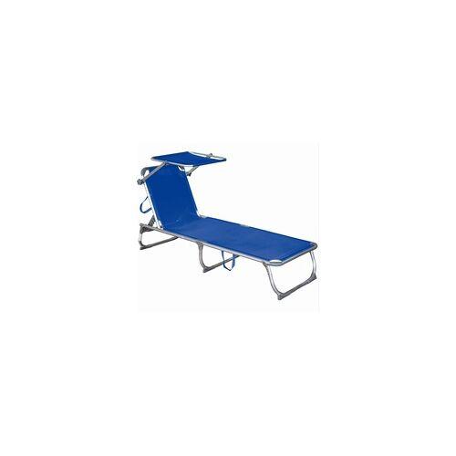 Harms Import Sonnenliege mit Sonnendach blau Dreibeinliege Alu/Stahl verstellbar  Harms 504709