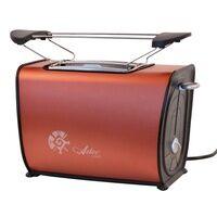 PowerTec 2 Scheiben Toaster Brötchenaufsatz 870 W Röster Frühstück Krümelschublade Kupfer Powertec 01109