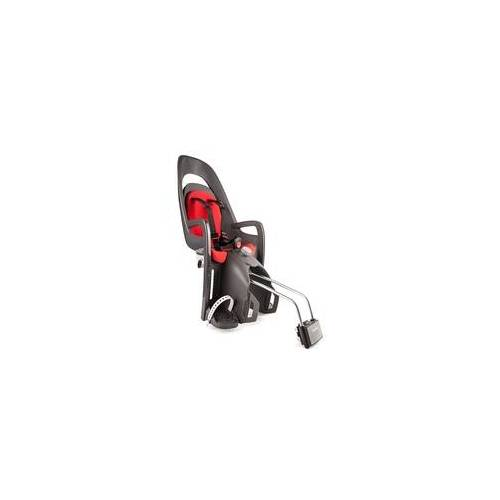 Hamax Caress Fahrradkindersitz / Fahrradsitz inkl. abschließbare Rahmenbefestigung, Farbe: Grey / Red