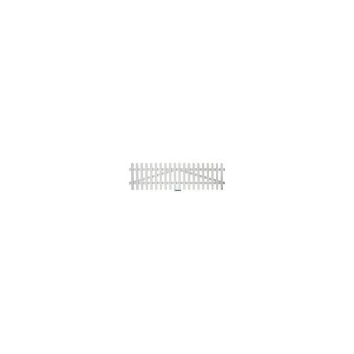 meingartenversand.de Aluminium Gartenzäune Zauntor Weiß 300 x 80 cm