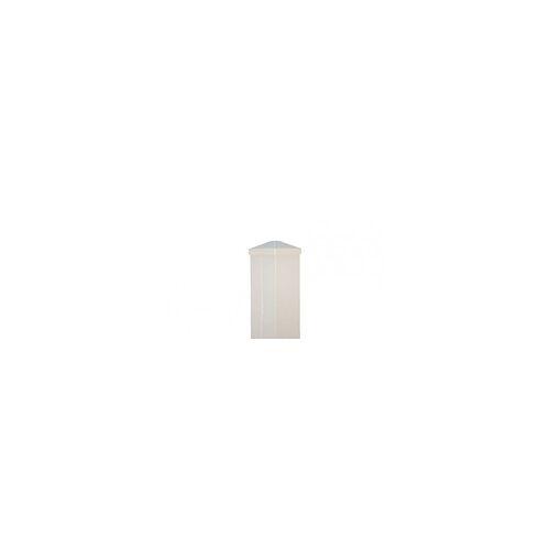 meingartenversand.de Aluminium Zaunpfosten Weiß  9 x 9 x 90 cm