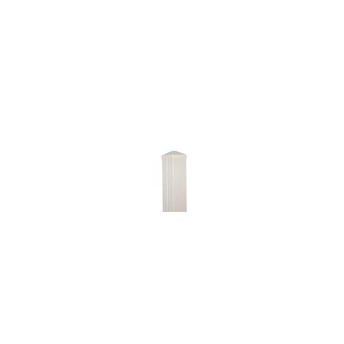 meingartenversand.de Zaunpfosten Aluminium 7 x 7 x 110 cm in weiß