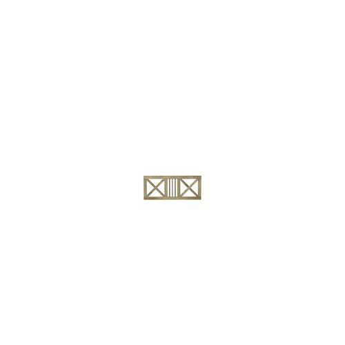 meingartenversand.de Design Gartenzaun Schloss - Vorgartenzaun mit Rahmen und Kreuz aus kesseldruckimprägniertem Kiefer und Fichtenholz in Größe 180 x 75 cm