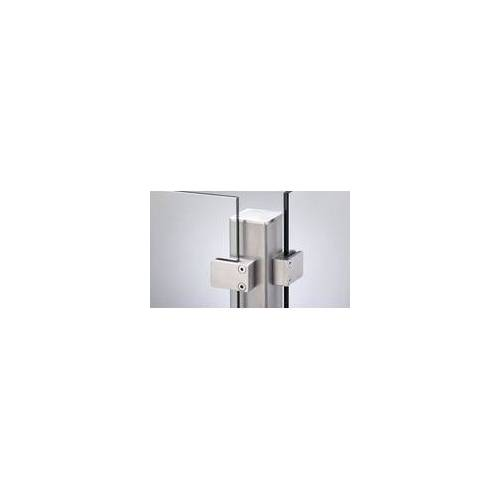 meingartenversand.de Edelstahlpfosten für 8 mm Glasssichtschutz 187 cm
