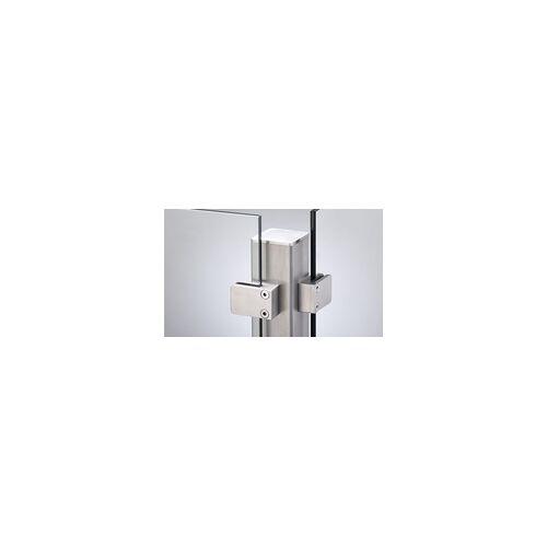 meingartenversand.de Edelstahlpfosten für 8 mm Glasssichtschutz 157 cm
