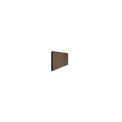 meingartenversand.de WPC Steckzaun Schwerin - Sichtschutzzaun Lamelle in teak mit den Maßen 179 x 30 x 2 cm